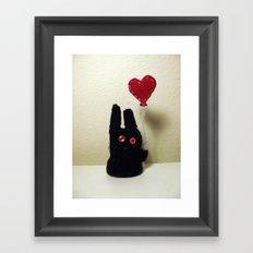 Bun Balloon Framed Art Print