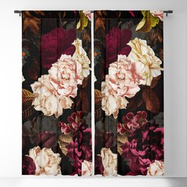 Vintage & Shabby Chic - Midnight Rose and Peony Garden Blackout Curtain
