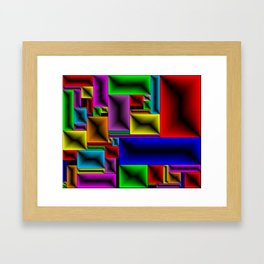 ColorBlox - Hammered Framed Art Print
