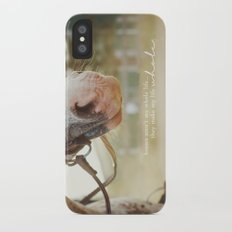 horses make me whole Slim Case iPhone X