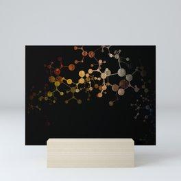 Metallic Molecule Mini Art Print