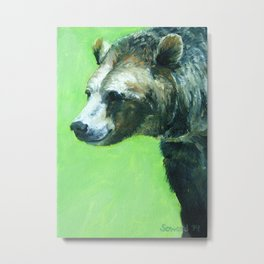 Happiness is a Bear Metal Print