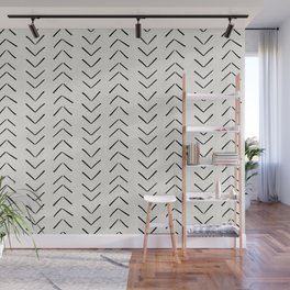 Mud Cloth Big Arrows in Cream Wall Mural