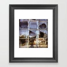 House Reflected in a Broken Window Framed Art Print
