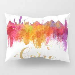 Cairo Skyline Egypt Watercolor cityscape Pillow Sham