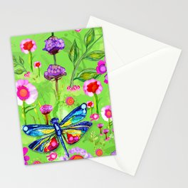 Tropical Dragonfly Garden Stationery Cards