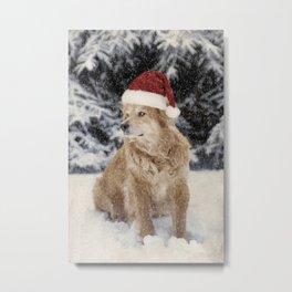 A Golden Christmas Metal Print