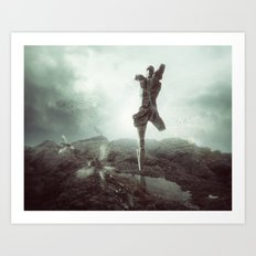 Early morning, goodbye to lost love. Art Print