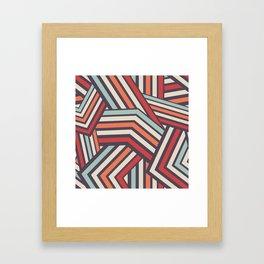 Seamless Modern Stripped Geometric Pattern Framed Art Print