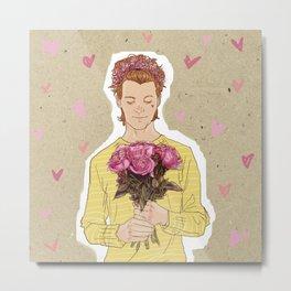 Flower Power  - Hot Pink Metal Print
