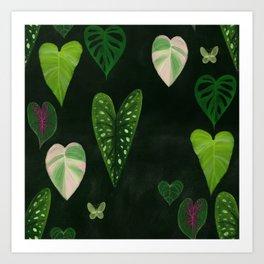 I heart houseplants Art Print