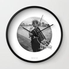 The Urban Crocodile Huntress Wall Clock