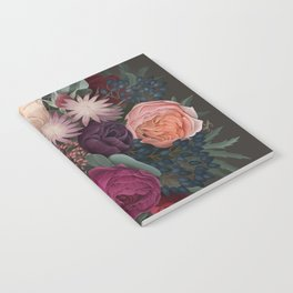 Dark florals Notebook