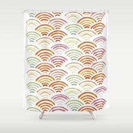 Baesic Watercolor Wifi Swash Shower Curtain