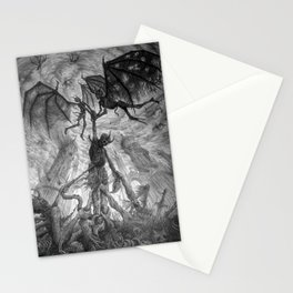 The Infernal Metaphor for an Apathetic Existence Stationery Cards