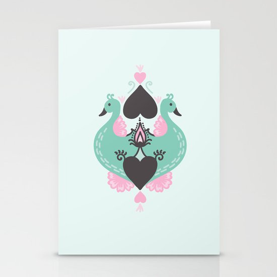 Pretty Peacocks Stationery Cards