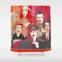 tinker bell Shower Curtains featuring Tinker, Tailor, Soldier, Spy  by Ethna Gillespie