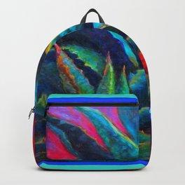 DECORATIVE  BLUE DESERT AGAVE RED DAWN DESIGN Backpack
