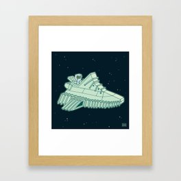 space sneaker 4 Framed Art Print