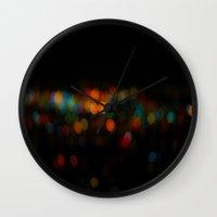 bokeh Wall Clocks featuring Bokeh by Fox Industries