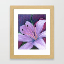 Lily in Lavenders Framed Art Print