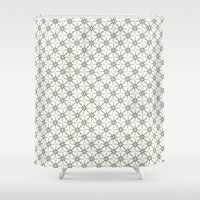 flower pattern Shower Curtains featuring Flower pattern by Yasmina Baggili