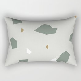 Shape and Color Study: Terrazzo + Stone Rectangular Pillow