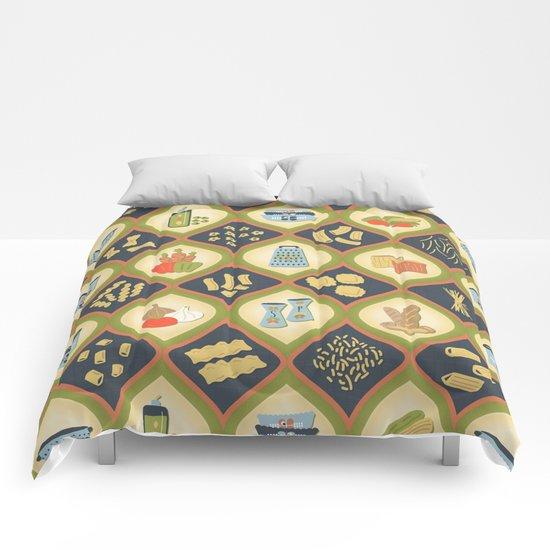 Pasta Fun Pattern Comforters