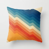 old Throw Pillows featuring Barricade by Tracie Andrews