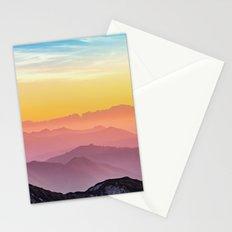 sky blue yellow orange purple Stationery Cards