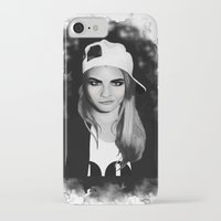 cara delevingne iPhone & iPod Cases featuring Cara Delevingne by BeckiBoos