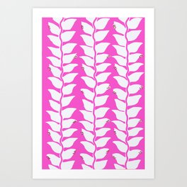 Hot Pink Heliconia Art Print