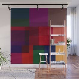 Jewel tones abstract geometric I Wall Mural