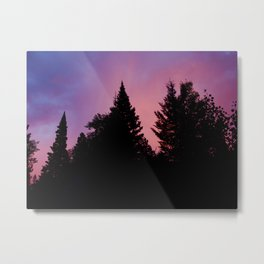 Sunset over the Fern Lake Trail, RMNP Metal Print