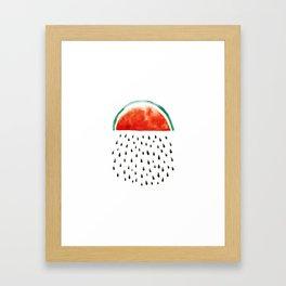 watermelon rain Framed Art Print