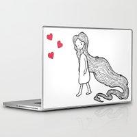 rapunzel Laptop & iPad Skins featuring Rapunzel by Irene Florentina