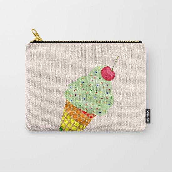 Colorful Ice Cream Cone Design Carry-All Pouch