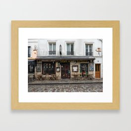 Cafe in Monmartre Paris Framed Art Print