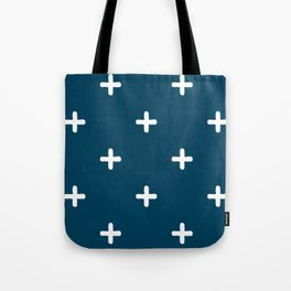 White Crosses on Deep Teal Tote Bag