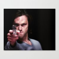 winchester Canvas Prints featuring Sam Winchester by thefluidlines