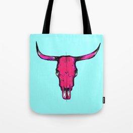 Horns - pink & acqua Tote Bag