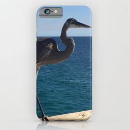 Blue Heron on the pier iPhone Case