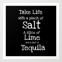 tequila Art Prints featuring Tequila by  Alexia Miles photography