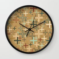positive Wall Clocks featuring positive by Kingu Omega