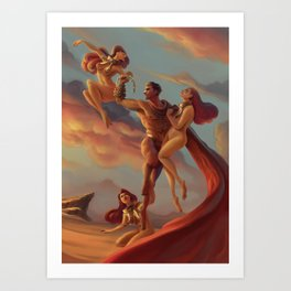 The Cerberus Unchain Art Print