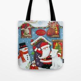 Santa's House Tote Bag