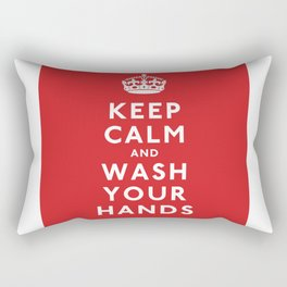 Keep Calm and Wash Your Hands Rectangular Pillow