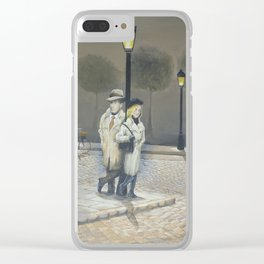 Midnight in Paris Clear iPhone Case