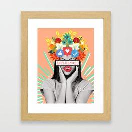 Influenced Framed Art Print