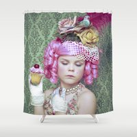 marie antoinette Shower Curtains featuring Marie Antoinette by Malice of Alice